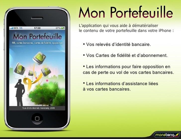 """Application iPhone monabanq. : """"Mon Portefeuille"""""""