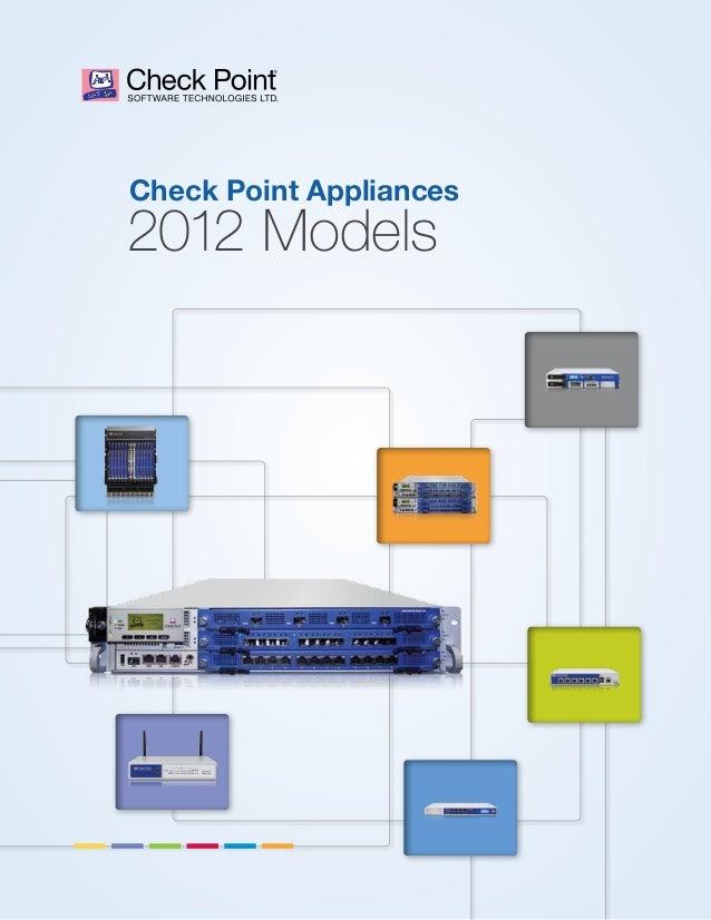 Check Point Appliances  2012 Models