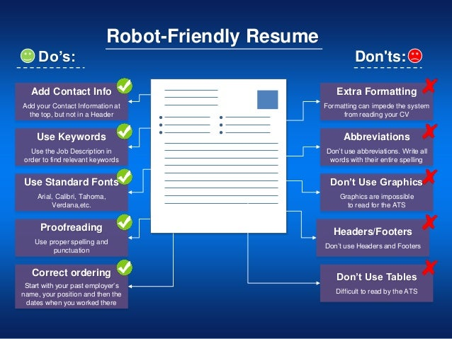 Robots Reading Your Resume