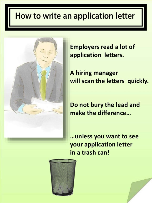 How to write an application letter your