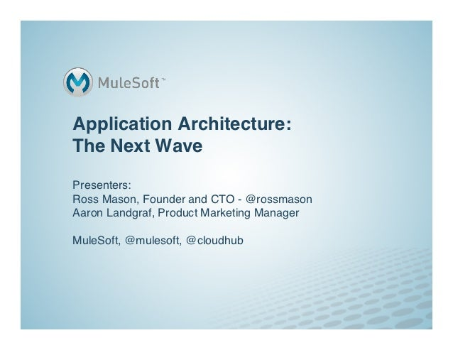 The Next Wave of Application Architecture | MuleSoft