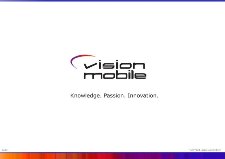 Page 1   Copyright VisionMobile 2008