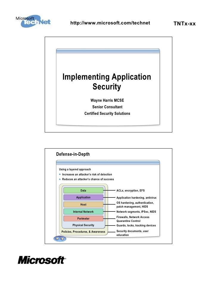 Implementing Application Security