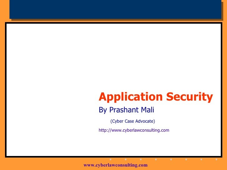 Application Security: