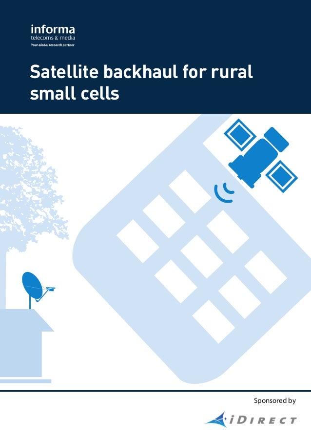 Sponsored by Satellite backhaul for rural small cells