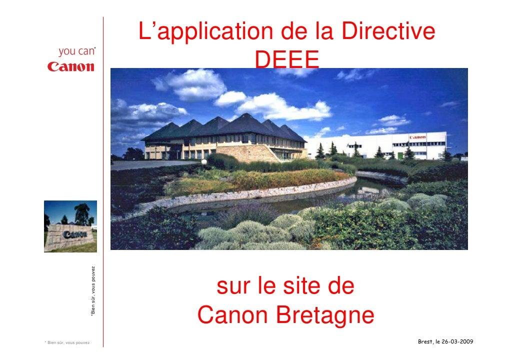 Application de la directive DEEE Canon Bretagne
