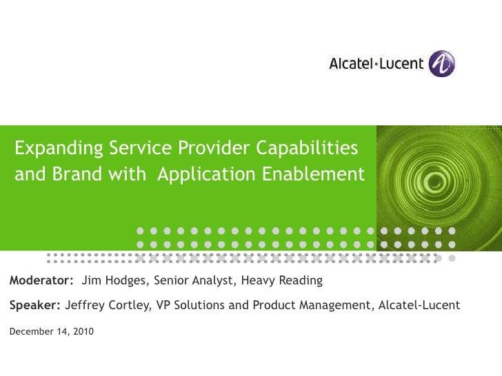 Application enablement webinar alcatel lucent 15-dec