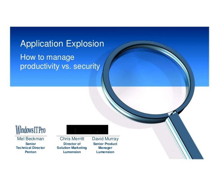 Application Explosion How to Manage Productivity vs Security