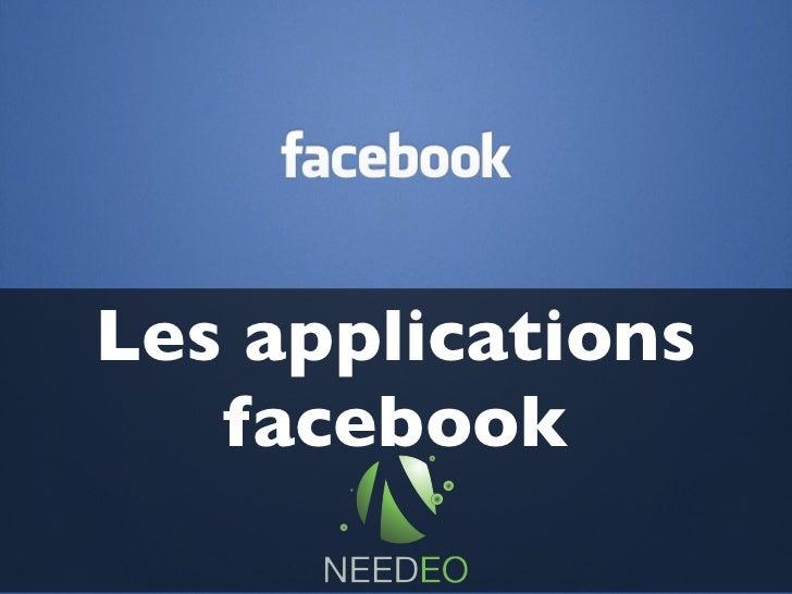 Les applications facebook pour mon entreprise