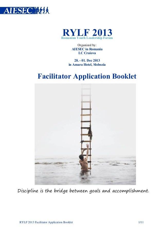 Application Form RYLF 2013
