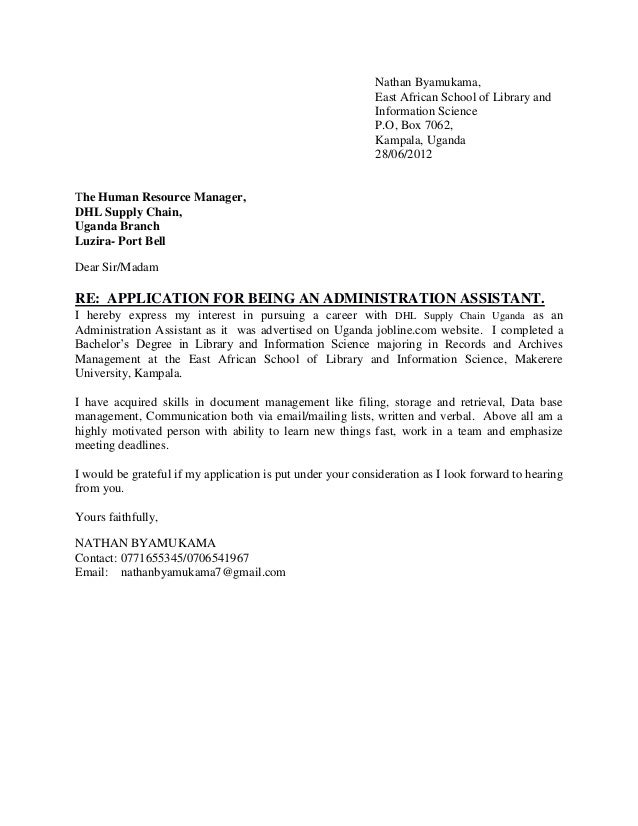 Example Of Application Letter For Ojt Bsba