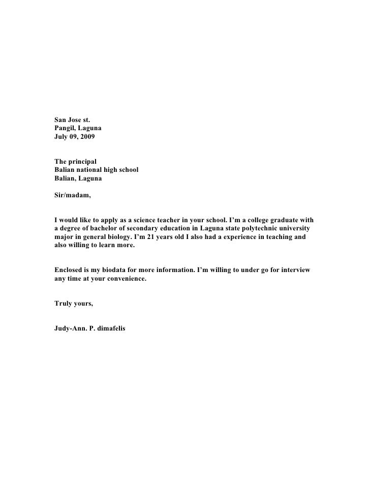 School Principal Cover Letter ...  Teaching Cover Letter Examples
