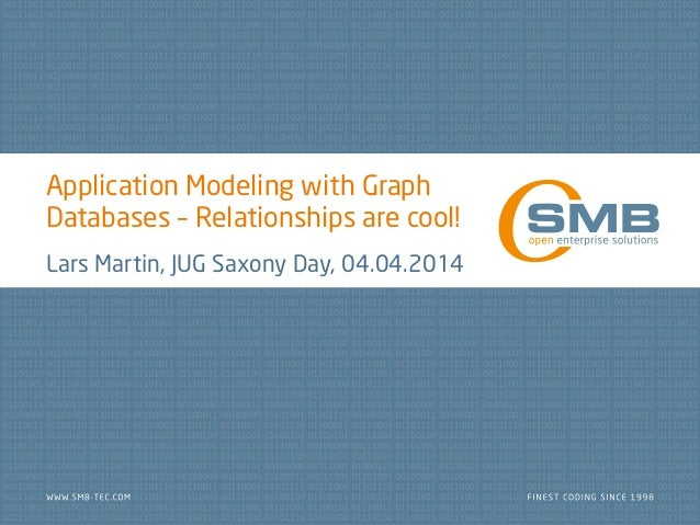 Application Modeling with Graph Databases – Relationships are cool! Lars Martin, JUG Saxony Day, 04.04.2014