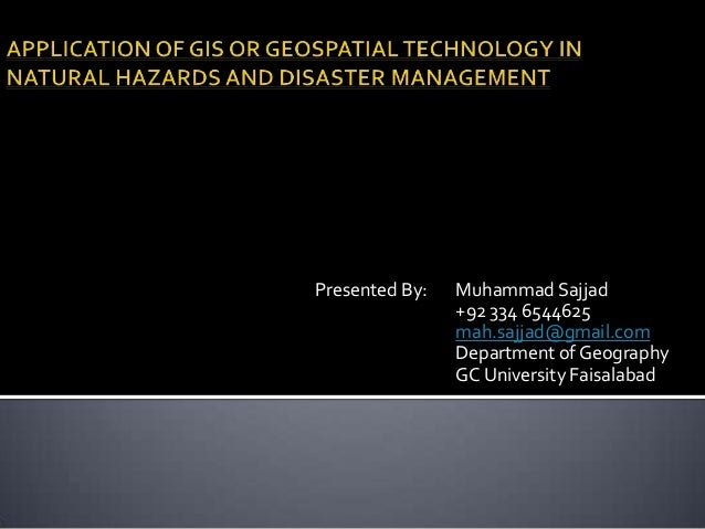 Gis Application In Natural Resource Management Ppt