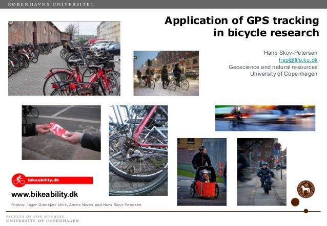 Application of gps tracking in bicycle research