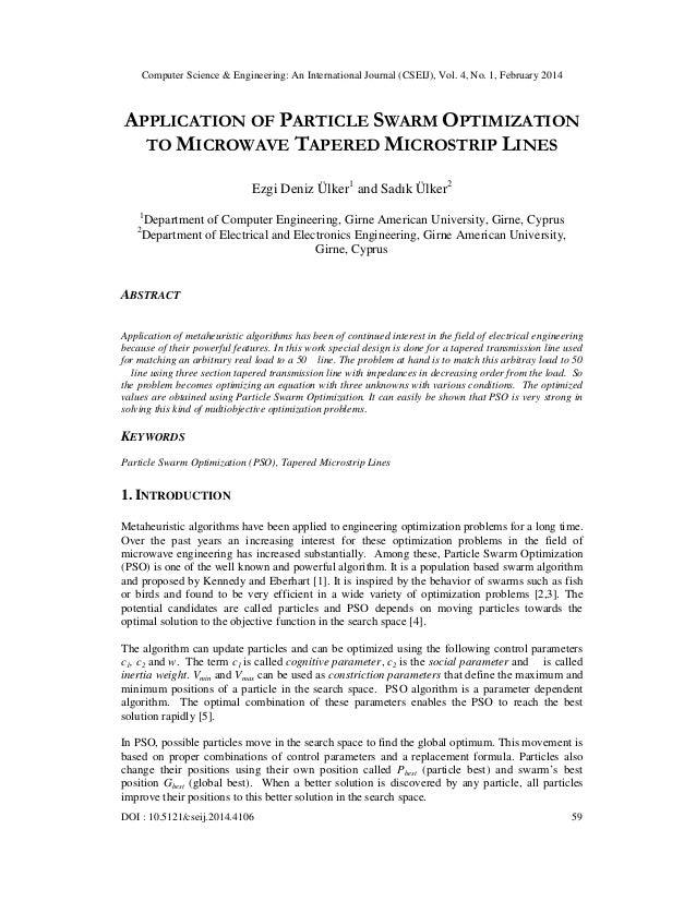 Computer Science & Engineering: An International Journal (CSEIJ), Vol. 4, No. 1, February 2014 DOI : 10.5121/cseij.2014.41...