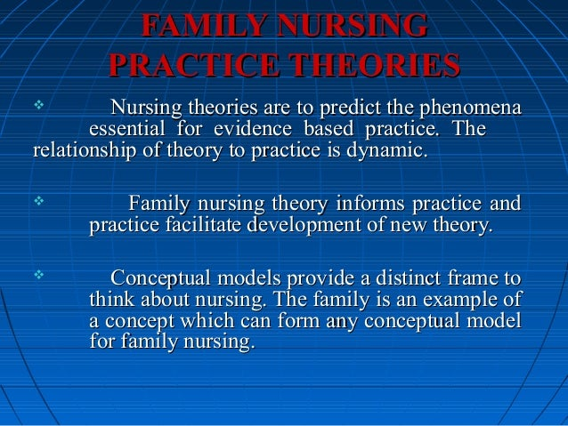 how do the nursing conceptual and theoretical models relate to theory driven evidence based practice