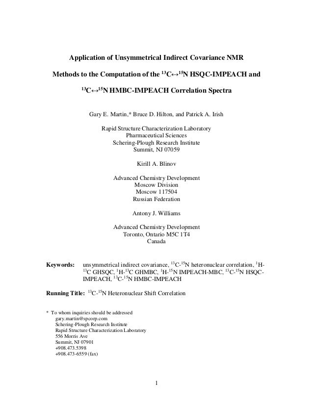 Application of unsymmetrical indirect covariance NMR methods to the computation of the 13C↔15N HSQC-IMPEACH and 13C↔15N HMBC-IMPEACH correlation spectra