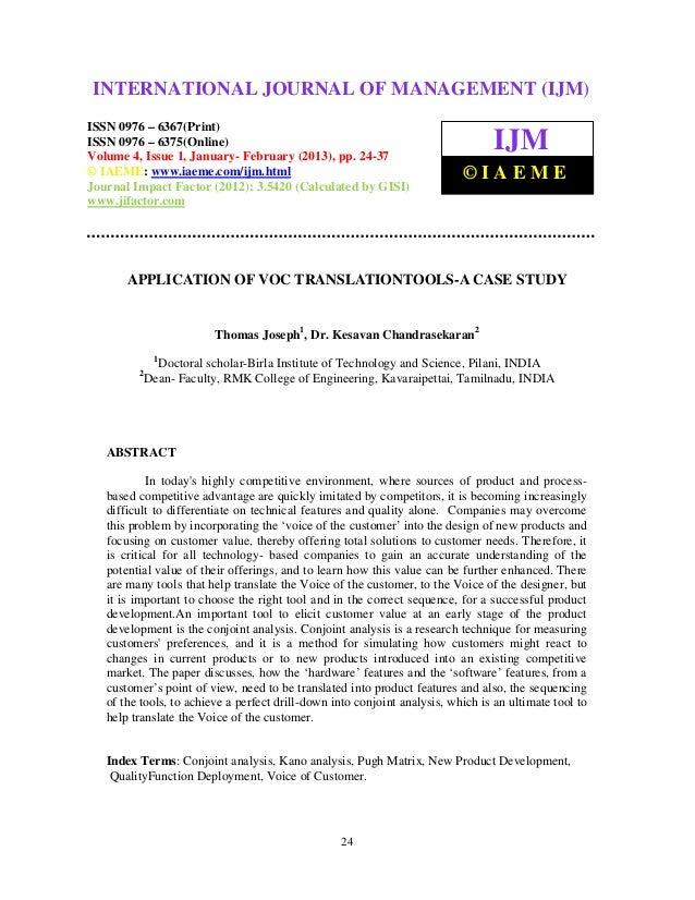 Application of voc translationtools a case study