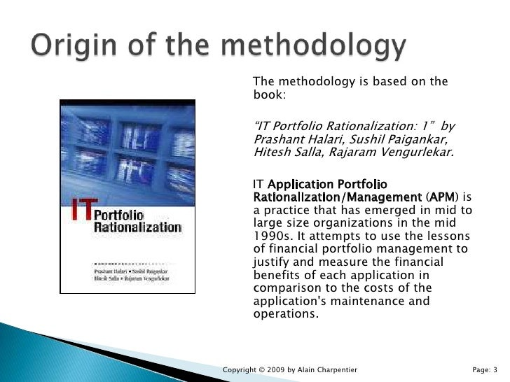 application portfolio management thesis