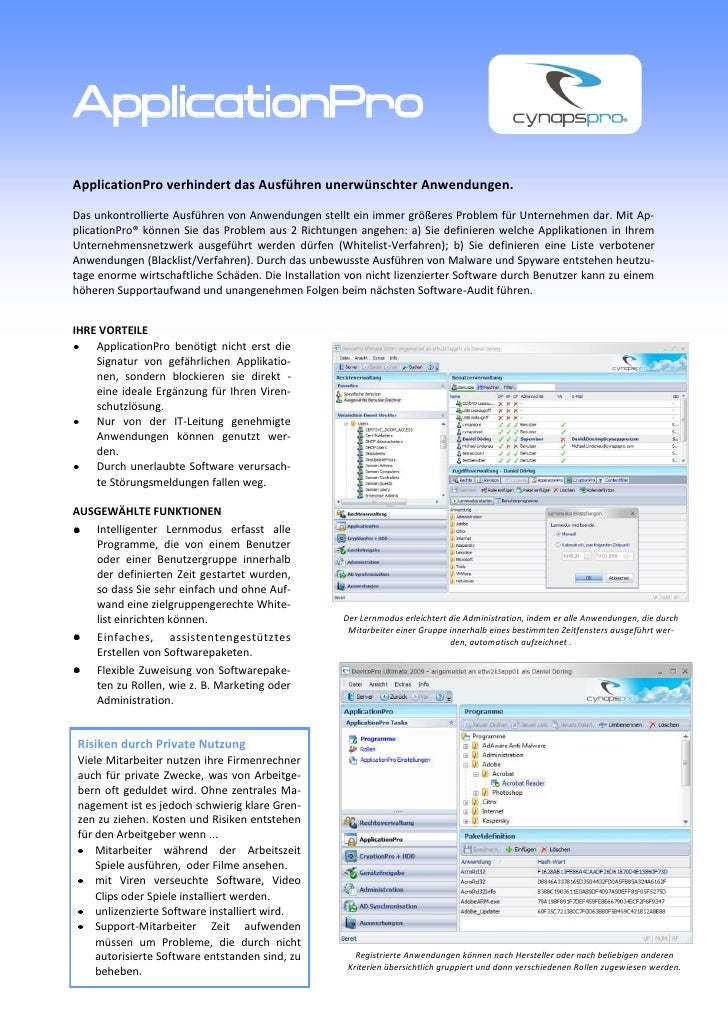 ApplicationPro Flyer deutsch
