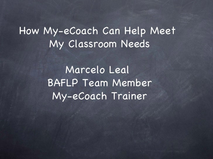Applications Of My E Coach