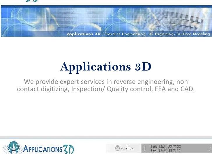 Application3d.com services