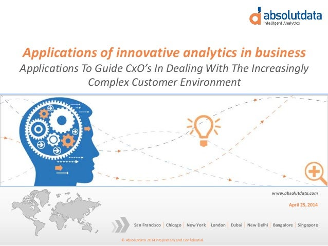 Applications of innovative analytics in business