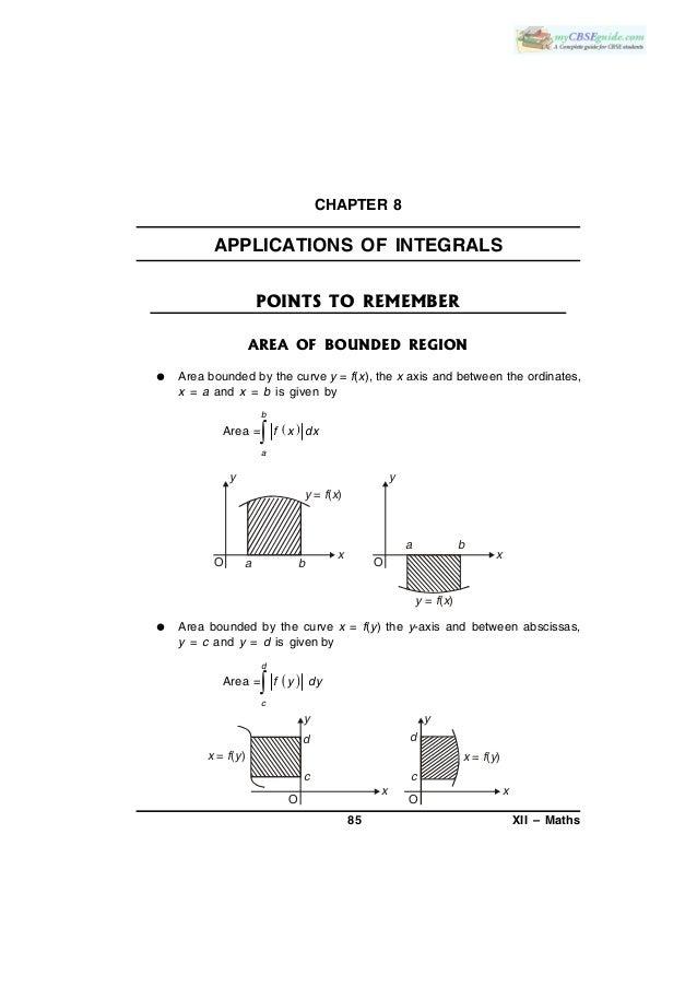 Applications of integrals