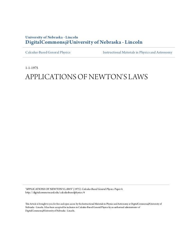 University of Nebraska - LincolnDigitalCommons@University of Nebraska - LincolnCalculus-Based General Physics             ...