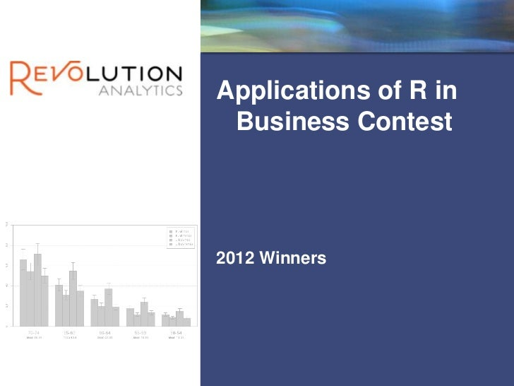 Revolution ConfidentialApplications of R in Business Contest2012 Winners