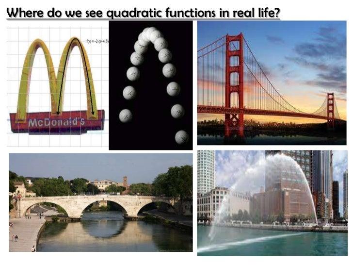 Applications of the vertex formula edit Quadratic Equation In Real Life