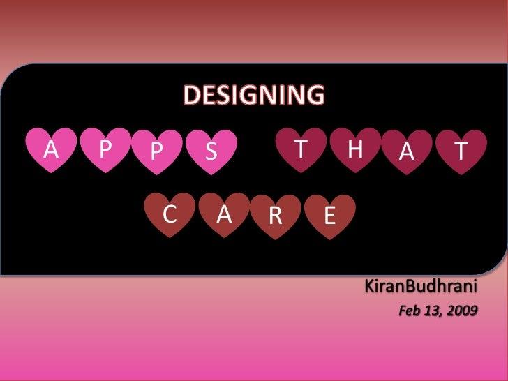 A   P   P   S       T       H   A       T          C   A   R       E                              KiranBudhrani           ...