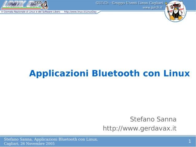 Applicazioni Bluetooth con Linux