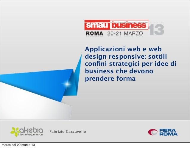 Applicazioni web e web                                            design responsive: sottili                              ...