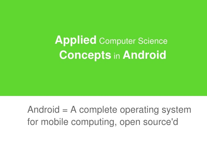 Which is the difference between Computer Science & Applied Computer Science ?