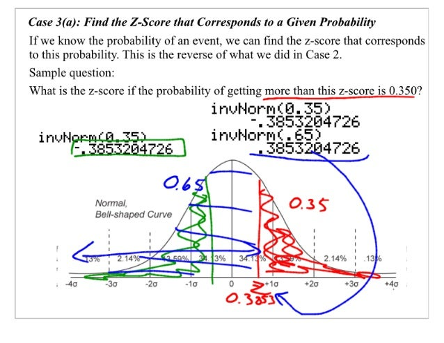 Case 3(a):  Find the Z-Score that Corresponds to a Given Probability  If we know the probability of an event,  we can find ...