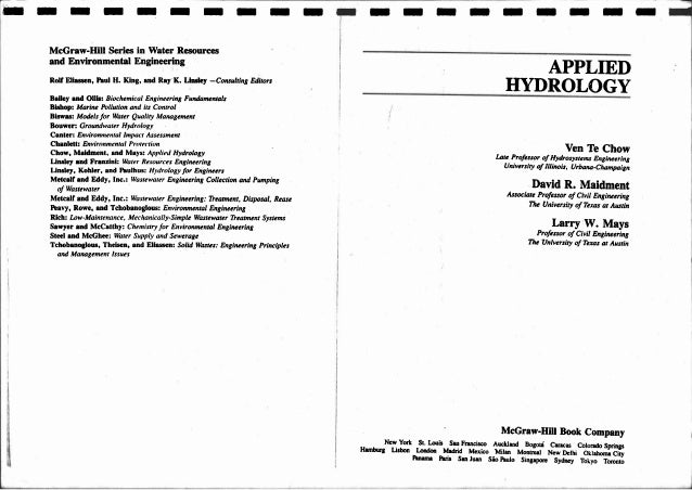 Applied%20 hydrology chow