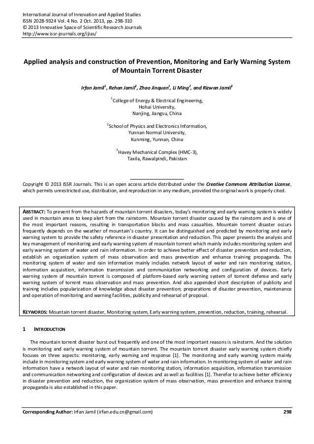 International Journal of Innovation and Applied Studies ISSN 2028-9324 Vol. 4 No. 2 Oct. 2013, pp. 298-310 © 2013 Innovati...