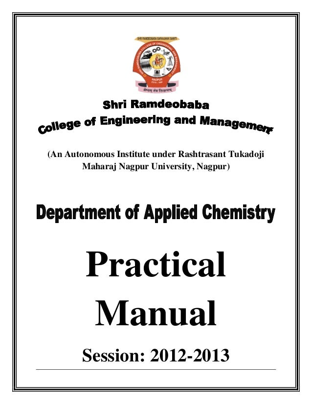 Applied chemistry practical manual session 12 13