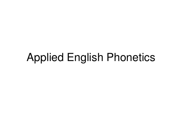 Applied english phonetics intonation
