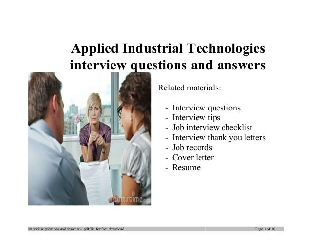 Applied industrial technologies interview questions and answers