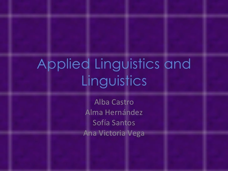 Applied linguistics and linguistics