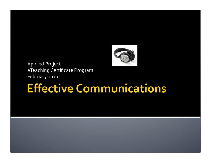 Applied Project Presentation
