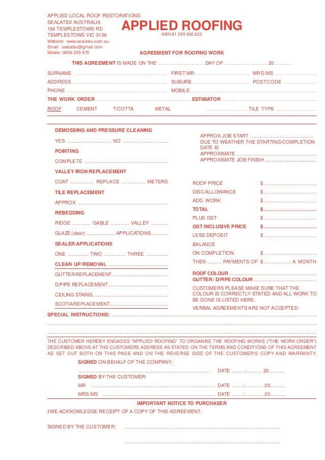 blank estimate form template