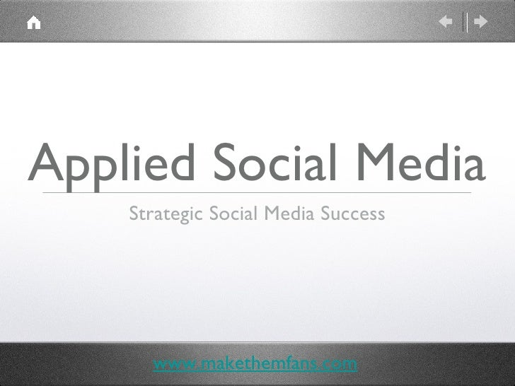 Applied Social Media - Lamar Johnson