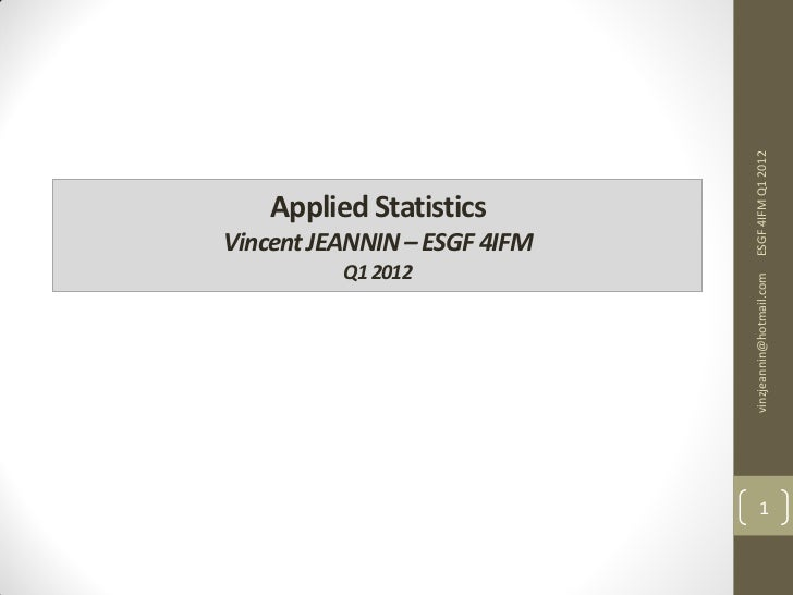 Applied Statistics III