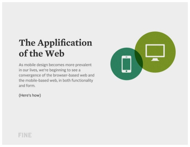 The Applification of the Web