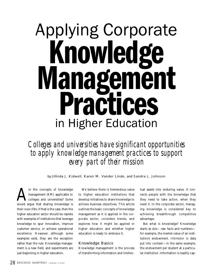 Applying  Corporate  Knowledge  Management