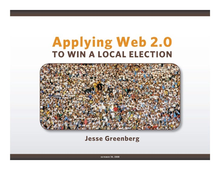 Applying Web 2.0 in Local Elections: Medill Alumni Club Event